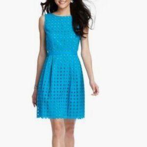 LOFT Tall Diamond Eyelet Cotton Dress Size 16 Tall